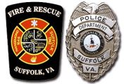 Fire and Rescue Badge and Police Badge