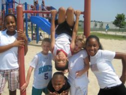 A Group of Kids on the Northern Shores Playground