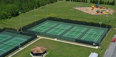 Howard Mast Tennis Courts Aerial